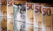 Euro edges lower on economic pessimism, Aussie hit by rate outlook