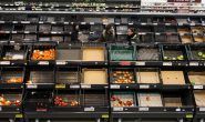 UK inflation falls from six-month high